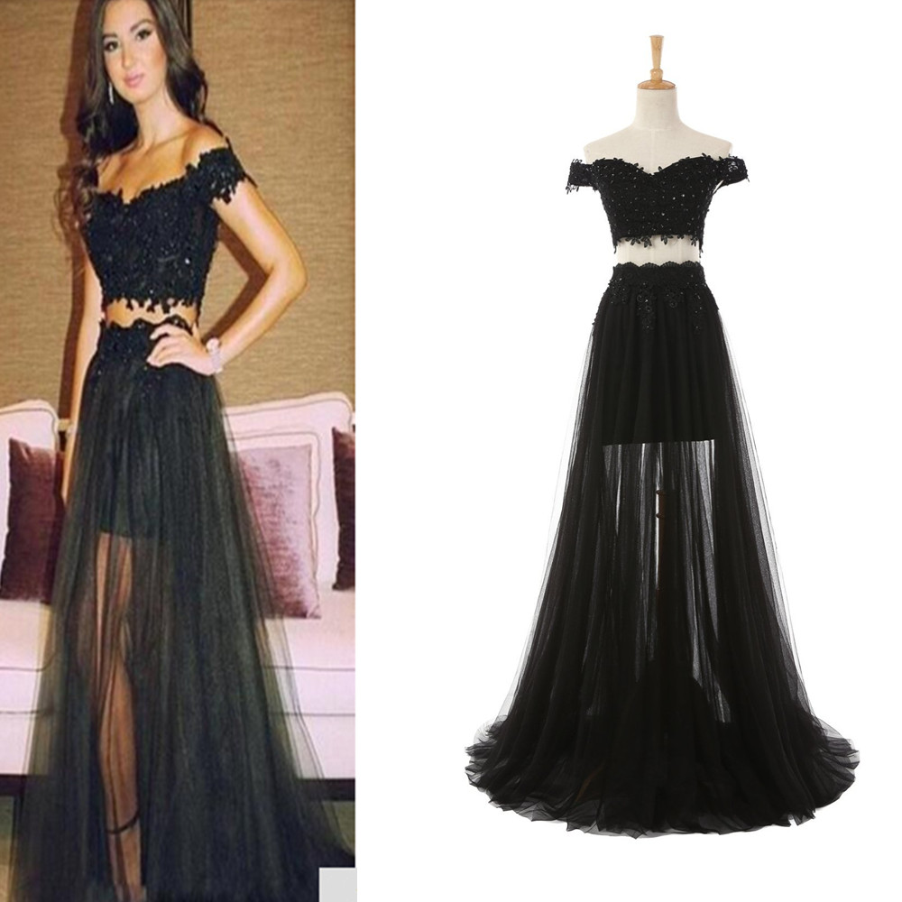 Sexy Tulle Prom Dresses, Celebrity Dresses, Off Shoulder Prom ...