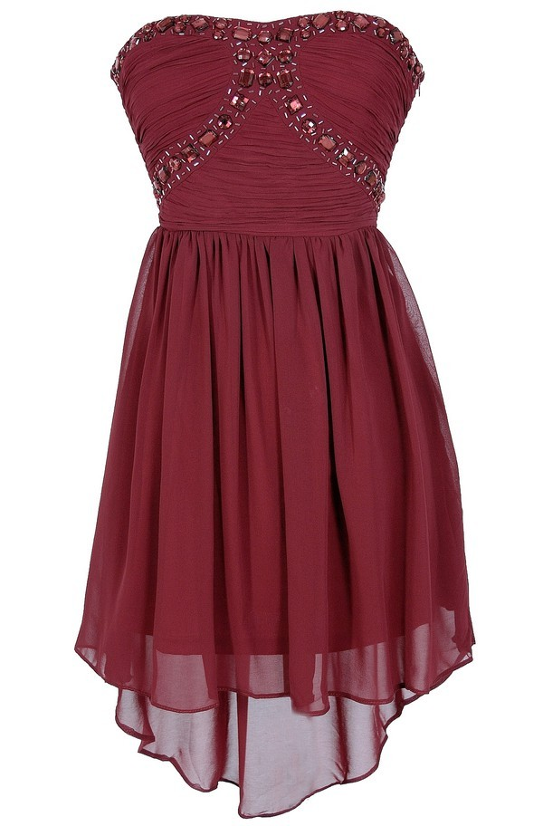 Sweetheart high low bridesmaid dress homecoming dresses for High low wedding guest dresses