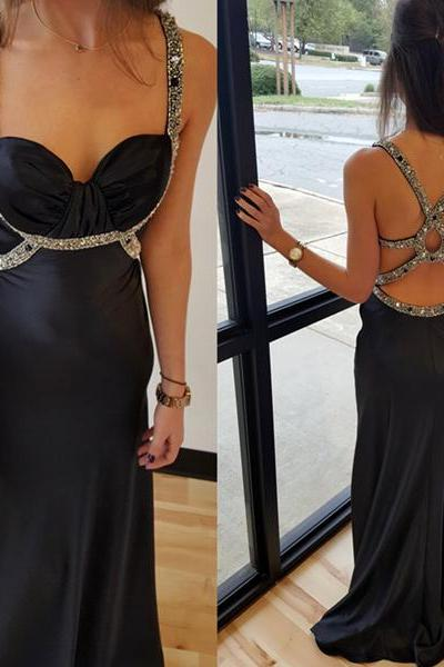 Black Prom Dress,Long Evening Dress,Evening Gown,Formal Evening Dress,Prom Dresses,Sparkle evening gowns