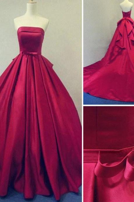 Charming Prom Dress,Long Prom Dresses,Formal Evening Dress,Women Dress,Ball Gown red prom gowns