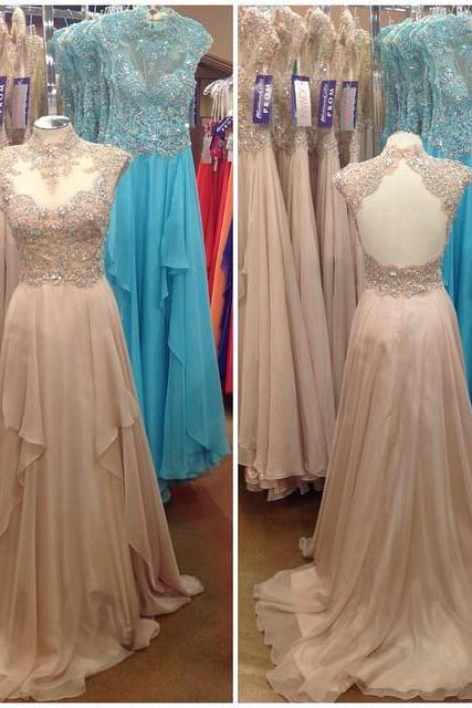 Charming Prom Dress,Long Evening Dress,Backless Evening Gown,Formal Evening Dress,Prom Dresses,Sparkle evening gowns