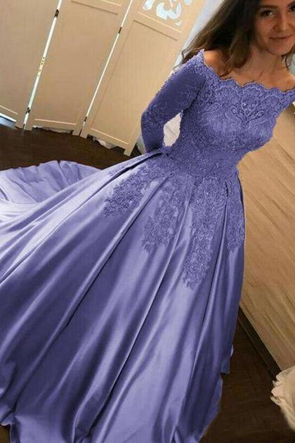 lavender prom dress,lavender quinceanera dress,wedding gown,Long Prom Dresses