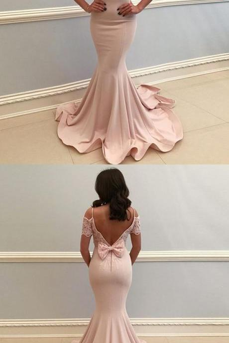 Cold Shoulder Mermaid Prom Dress, Long Prom Dresses, Sexy Evening Dress