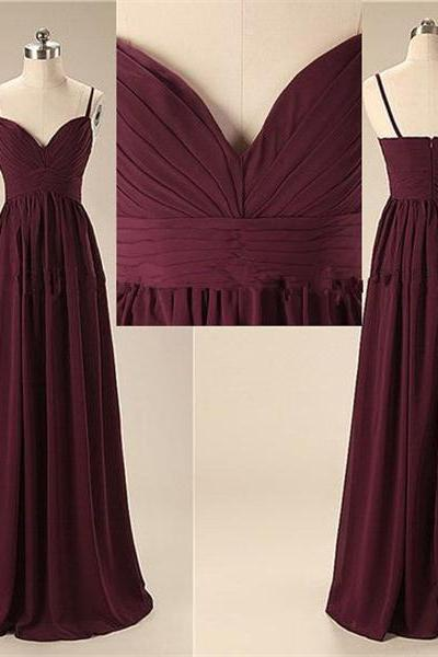 Simple Spaghetti Long Bridesmaid Dresses, Cheap Chiffon Bridesmaid Dress,Elegant Evening Dresses,Open Back Bridesmaid Dresses 2016,girls party dress, homecoming dress , 2016 cheap short sexy prom dress .