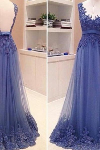 Lace Prom Dresses, Floor-Length Prom Dresses, Sexy V-Neck Prom Dresses, A-Line Backless Sequins Prom Dresses, Appliques Charming Evening Dresses, Evening Dresses For Wedding
