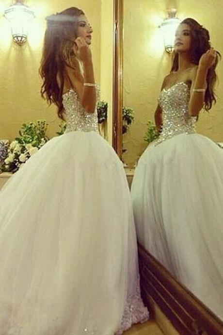 Wedding Dresses,Bridal Gowns,Bridal Dresses,2016 Wedding Dresses,Ball Gown Wedding Dresses,Crystal Wedding Dresses,Luxury beads Wedding Dresses,Beaded Wedding Dresses,custom wedding dresses
