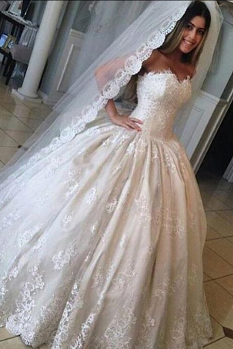 Lace Sweetheart Princess Wedding Dresses 2016 Romantic Bridal Gowns, Tulle wedding Dresses,A-Line Floor-Length Dresses, Charming Wedding Dresses,Wedding Dresses, Charming Dresses,sexy Strapless wedding dresses,A-Line Sweetheart Tulle Wedding Dresses Bride Gown Party Deb Ball Pageant,Sleeveless Wedding Dresses,Lace Bridal Wedding Gown,Bridal Dress,custom wedding dresses