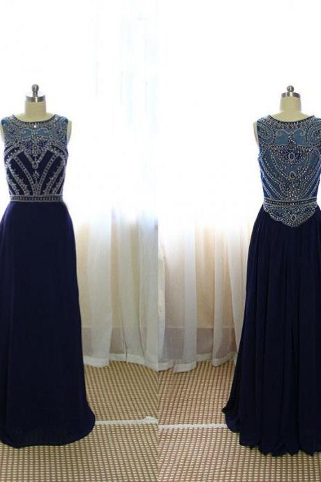 New sexy Formal Dresses,Custom Made A Line Dark Navy Blue Beaded Long Prom Dresses 2017, Formal Dresses, Navy Blue Evening Dresses, Graduation Dresses,girls party dress, sexy prom Dresses,homecoming dress , 2016 cheap long sexy prom dress .