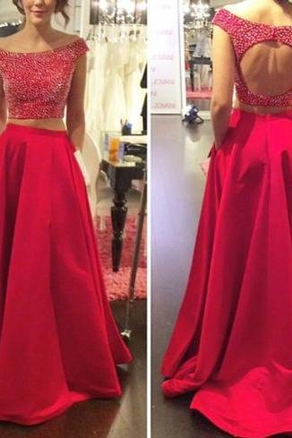 Two Pieces formal Dresses, Backless Prom dresses, Prom dresses 2016, red Two Pieces Prom Dress, Prom Dress 2016, Two Pieces formal Dresses,girls party dress, sexy prom Dresses,homecoming dress , 2016 cheap long sexy prom dress .