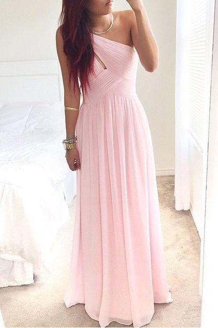 sexy Pretty Pink One-Shoulder Simple Prom Dress With Beadings Prom Dresses Simple Prom Dresses 2017 Prom Gown Evening Dresses,girls party dress, sexy prom Dresses,homecoming dress , 2016 cheap SHORT sexy prom dress .