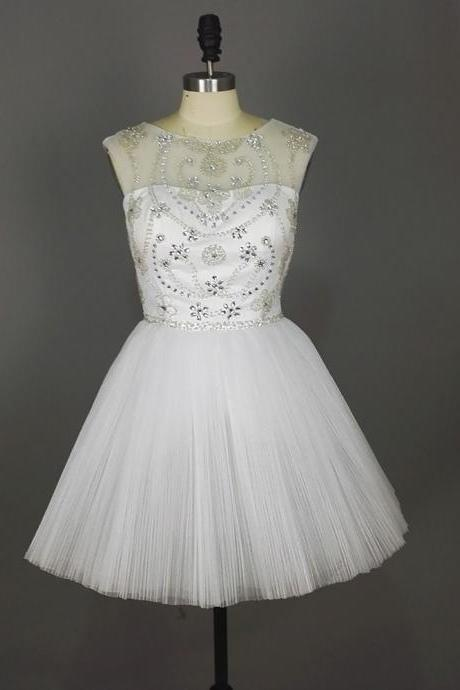 Graduation Dress,White Graduation Dresses,prom dresses,Short White Prom Dresses,Short Prom Dresses,Organza Prom Dresses,Cheap prom dresses,Short Evening Dress, Homecoming Dresses, Cocktail Dresses,Formal Gowns