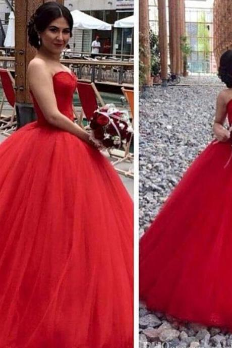 Prom Dress,New Prom Dress,Red Ball Gown Prom Dress,Sexy Prom Dress,Tulle Prom Dress,Long Prom Dresses,Evening Dress,Wedding Dress,Wedding Gown,custom made Graduation dresses, vogue formal dresses