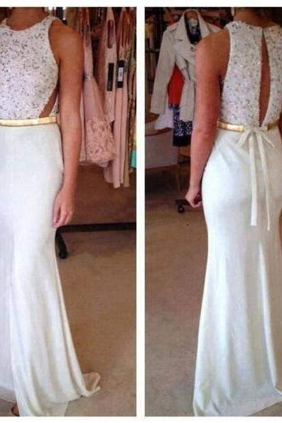 Formal Dress,Sexy New Design Chiffon White Prom Dress,Mermraid Prom Gown Dress,Halter Evening Dress,Formal Dresses,white Formal Dress