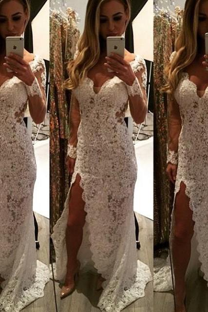 Wedding Dresses Elegant New Arrival Cheap Mermaid Red Sweetheart Lace Long Formal Evening Party bridal Gowns Abendkleider
