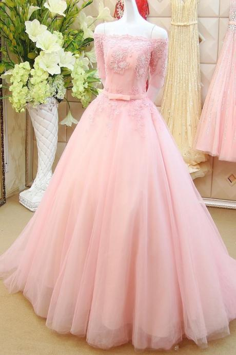 Pink Prom Dresses,off the shoulder Prom Gowns,Pink Prom Dresses,Long Prom Gown,Prom Dress,Lace Evening Gown,princess party Gown Evening Gowns,Party Gowns,Cocktail Dress, Formal Occasion Dresses,Formal Dress