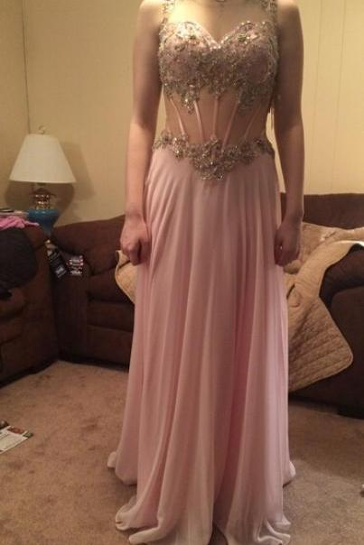 Charming Prom Dress,Chiffon Prom Dress,Beading Prom Dress,Long Prom Dresses,Evening Formal Dress,A-line party dress, Prom Dresses,Wedding Guest Prom Gowns, Formal Occasion Dresses,Formal Dress
