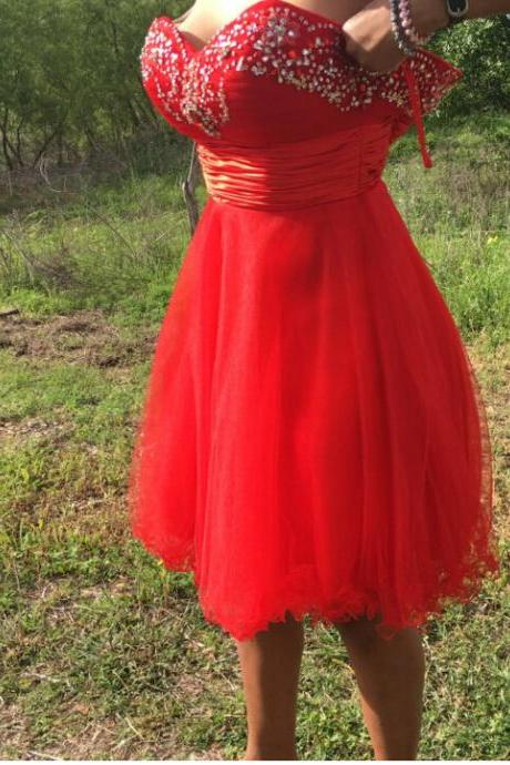 Party Dress,Red Short Prom Dress Homecoming Dresses,Party Dress,Wedding Guest Prom Gowns, Formal Occasion Dresses,Formal Dress