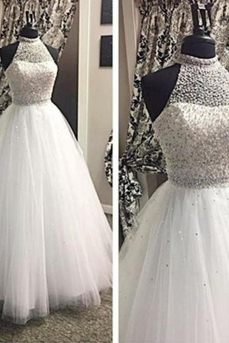 Wedding Dress, Charming Wedding Dress,Ball Gown Bridal Dress,Tulle Wedding Dress,Halter Wedding Dress,Wedding Guest Prom Gowns, Formal Occasion Dresses,Formal Dress