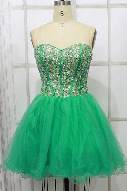 High Quality Homecoming Dress,Beading Homecoming Dress,Sweetheart Graduation Dress,Tulle Prom Dress,Wedding Guest Prom Gowns, Formal Occasion Dresses,Formal Dress