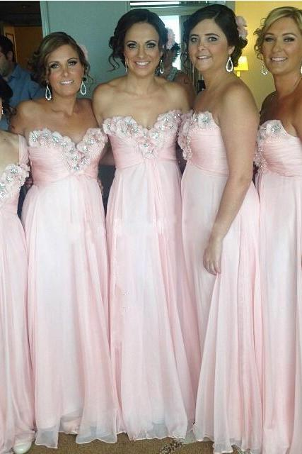 Bridesmaid Dress,Sexy Bridesmaid Dresses, Beaded Evening Dress,pink Appliques Evening Gowns,Stretch Bridesmaid Dresses,High Quality Graduation Dresses,Wedding Guest Prom Gowns, Formal Occasion Dresses,Formal Dress