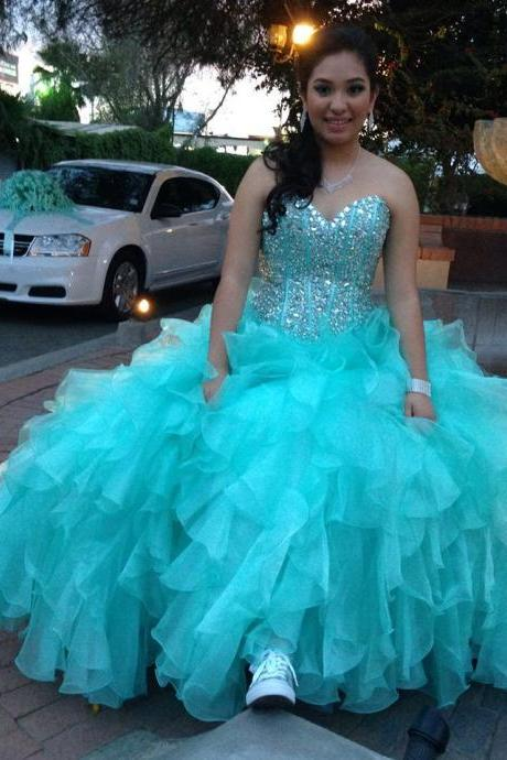 Prom Dress,Sexy Elegant Evening Dresses,Luxury Prom Dresses, Quinceanera Dress,Quinceanera Dresses with crystals,Beaded Quinceanera Dresses, Ruffles Organza,High Quality Graduation Dresses,Wedding Guest Prom Gowns, Formal Occasion Dresses,Formal Dress