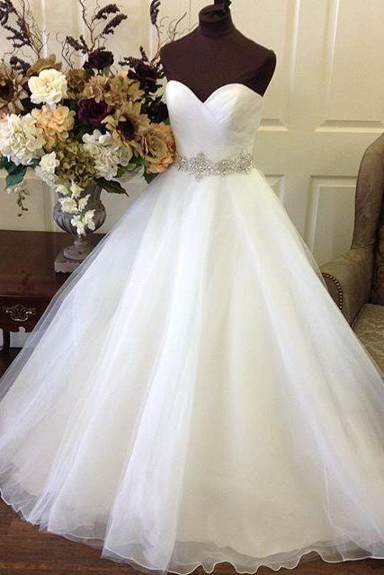 Wedding Dress,Sexy Elegant Wedding Dresses,Sweetheart Organza Princess Bridal Wedding Dresses Ball Gownss,High Quality Bridal Dresses,Wedding Guest Prom Gowns, Formal Occasion Dresses,Formal Dress