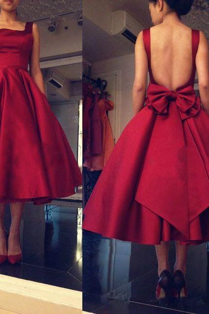 Backless Red Prom Dress,A-Line Prom Dresses,Evening Dress,High Quality Graduation Dresses,Wedding Guest Prom Gowns, Formal Occasion Dresses,Formal Dress