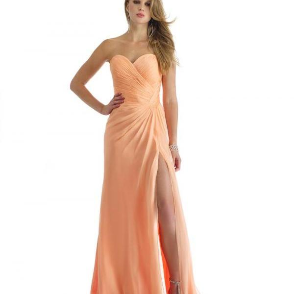 Sweetheart Evening Dresses Chiffon Evening Party Gowns Sleeveless Prom Dress