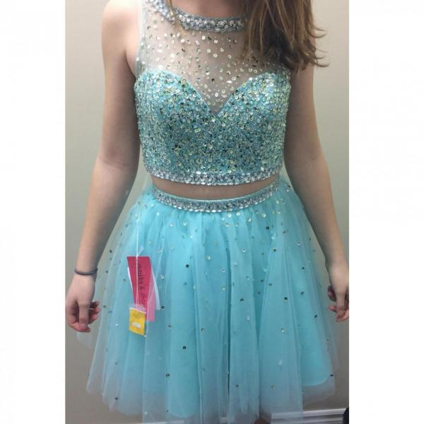 Homecoming Dress In Two Pieces Short Prom Dresses