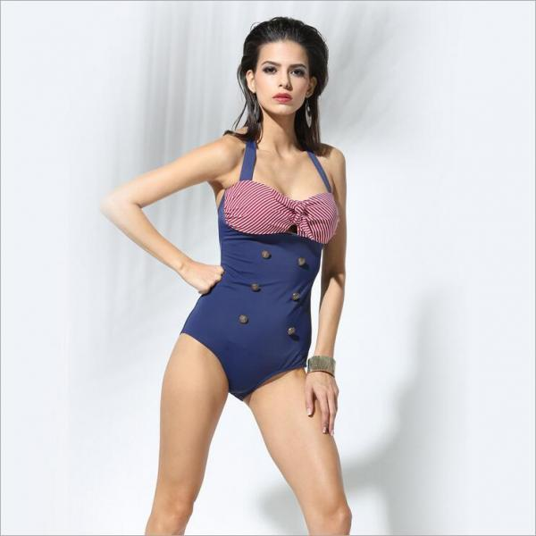 Bikini Swimwear,Stylish Sexy Women's One Piece Solid Bikini Beach Swimsuit ,One Piece Swimwear